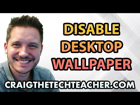 How To Disable The Windows XP Desktop Wallpaper - Ep. 9