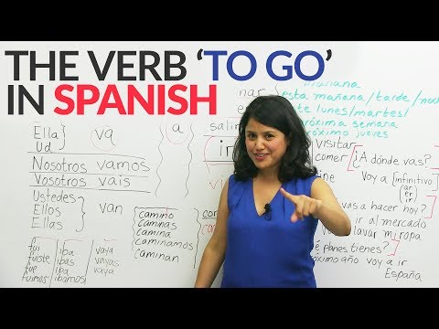 Learn Spanish: The verb 'TO GO'