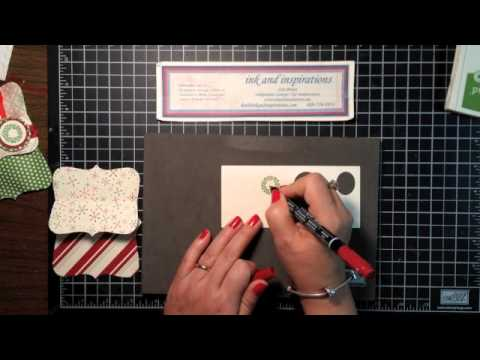 Stampin' Up! Video Tutorial Jolly Bingo Bits Top Note Pouch