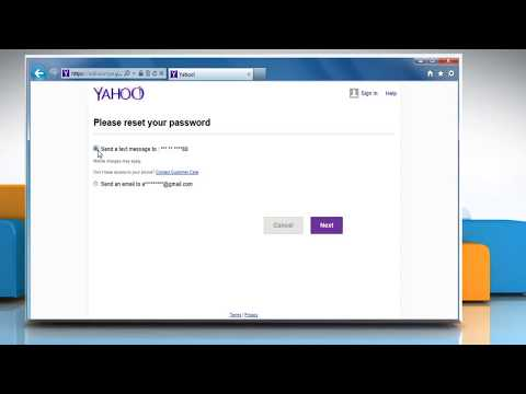 Recovery of Lost or Forgotten Yahoo!® account Password