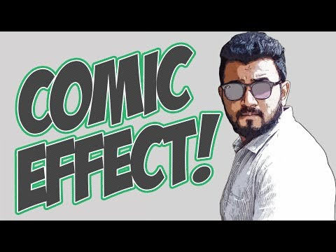 Make Comic Effect on Your Photo in 5 Minutes with Photoshop! | Easy Photoshop Tutorial| 2017 |