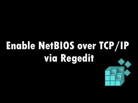 Enable NetBIOS over TCP/IP via Regedit