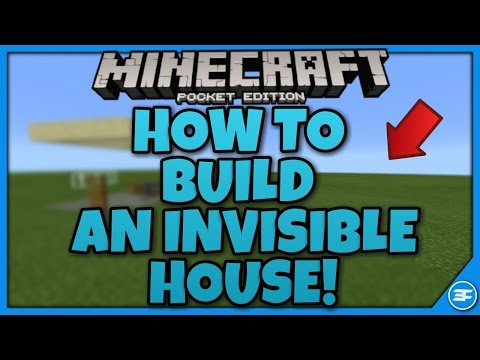 Minecraft PE 1.0.6 HOW TO BUILD AN INVISIBLE HOUSE!