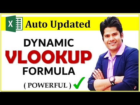 How To Make a Dynamically Updated Vlookup Formula in Excel || HINDI