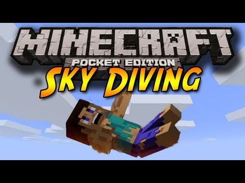 SKYDIVING in Minecraft Pocket Edition
