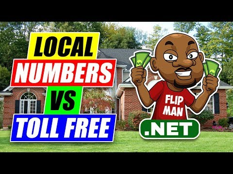 Local Numbers vs. Toll Free | Which number is best for Wholesaling Houses?