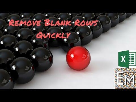 Delete blank rows in EXCEL QUICK! #7 - LIFE EXCEL HACK