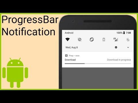 Notifications Tutorial Part 6 - PROGRESS BAR NOTIFICATION - Android Studio Tutorial