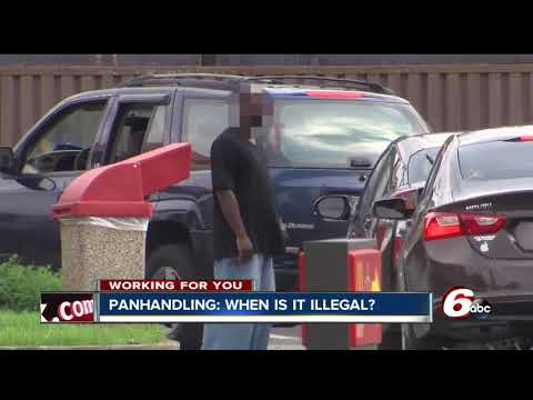 What is okay and what isn't when it comes to panhandling in Indiana?