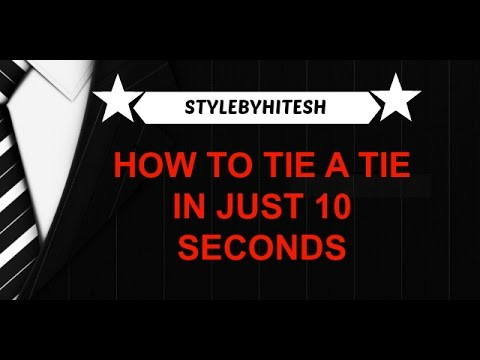 How to tie a tie in just 10 seconds