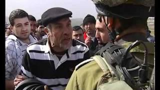 Palestinian vs Israeli Soldier Confrontation