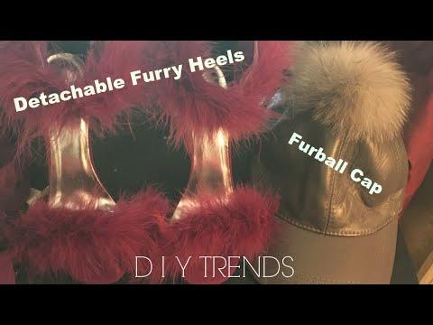 DIY Detachable Furry Heels and Furball Hat