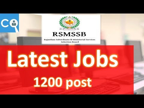 Rajasthan Subordinate and Ministerial Service Selection Board (RSMSSB)