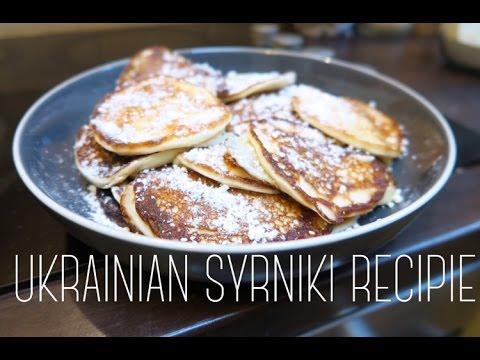 UKRAINIAN CHEESE PANCAKES : SYRNIKI RECIPE