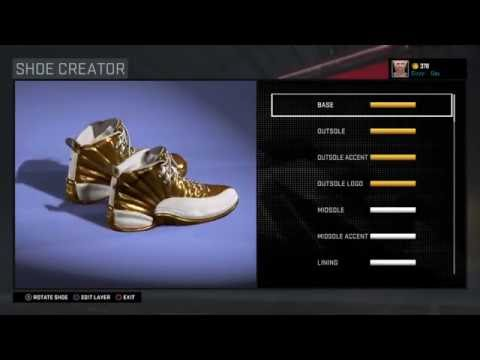 How to make golden shoes on 2k16