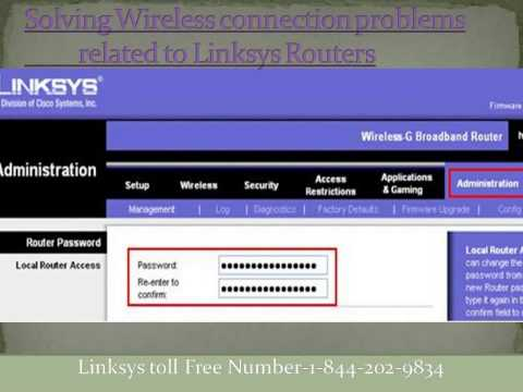 Troubleshooting of Linksys Wireless Router 1-844-202-9834