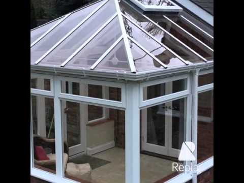 Wooden conservatory makeover