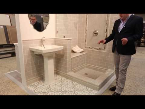 Bathroom Tile Ideas - Neutral Tone Wall & Floor Tile Designs