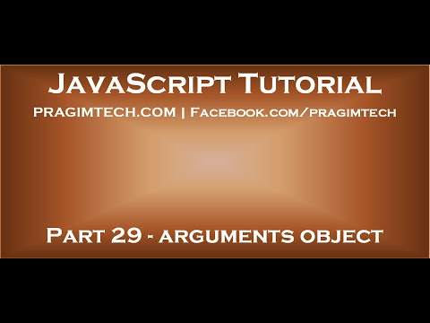 JavaScript arguments object