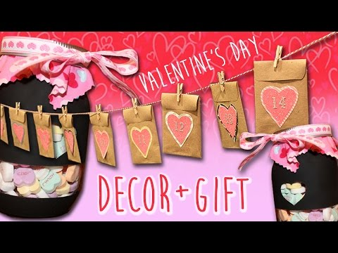 ♥ Valentine's Day DIY Countdown Calendar + Mason Jar Gift ♥ | ArtsyPaints