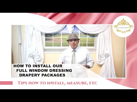 How To Install Elegant Drapes – Medium French Shell Combo | Galaxy Design Video #183