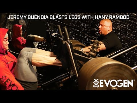 Jeremy Buendia Blasts Legs with Coach Hany Rambod