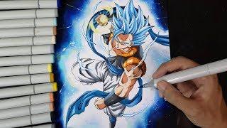 Drawing Gogeta Blue Dragon Ball Super Broly Videos 9tube Tv