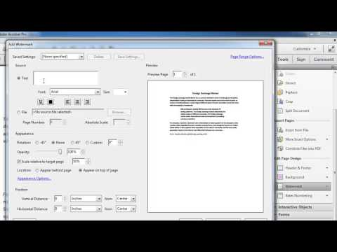 How to Add Watermarks to PDF