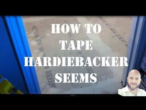 How to Tape Hardibacker Seems