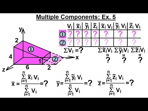 Mechanical Engineering: Centroids in 3-D (12 of 19) Solve Using Multiple Components: Ex. 5