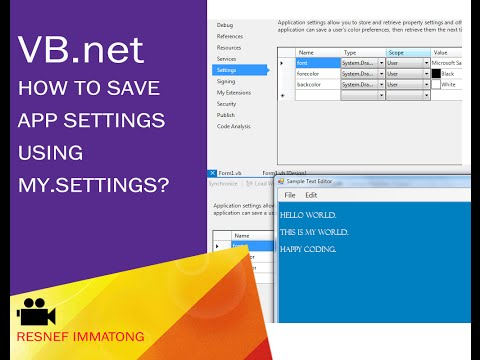 How to save Application Settings using My.Settings on VB.net?