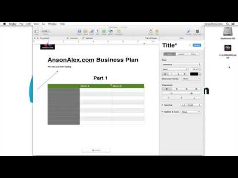 Apple Pages 5 Tutorial for Mac OS X - Quick Start