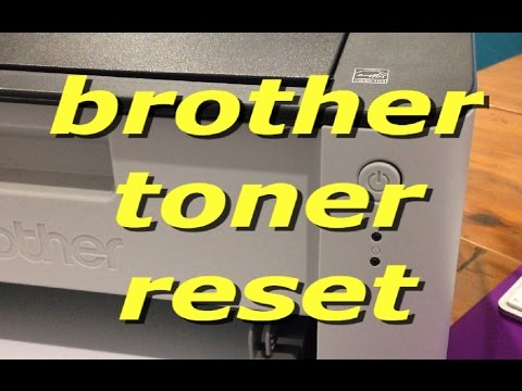 How to reset the Brother HL 1110 toner cartridge