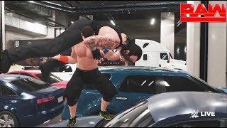 WWE-2K18-The Undertaker vs. John Cena - backstage brawl  Match- -RAW 2017