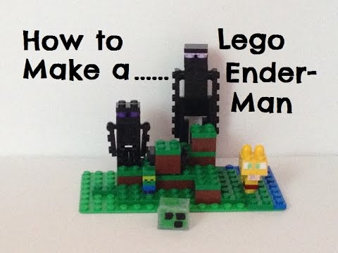 Updated: How to make a minecraft enderman out of Legos (Minecraft Lego ideas)