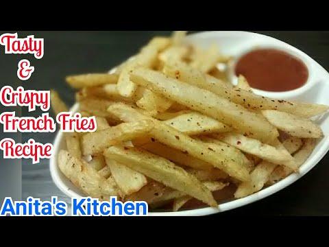 French Fries Recipe - Crispy homemade french fries recipe - starter recipe - फ्रेंच फराइस