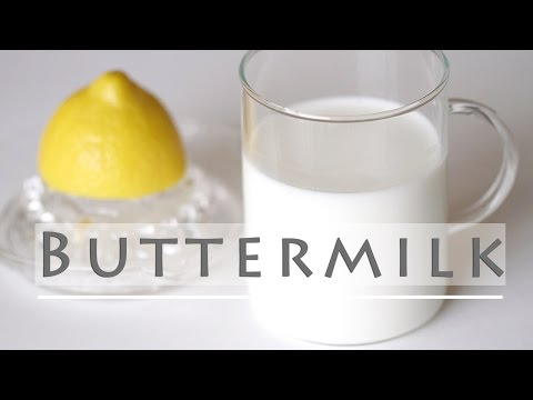 How to Make Buttermilk - Homemade Substitute Recipe 버터밀크 만들기