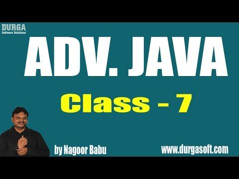 Learn ADV. JAVA Programming Tutorial Online Training by Mr. Nagoor Babu Sir On 15-06-2018