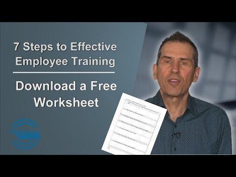 7 Steps to Employee Training Worksheet - Free Download