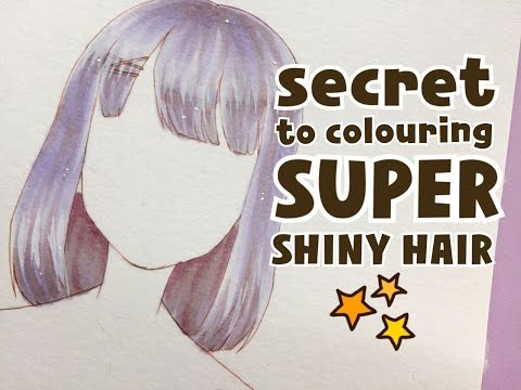 how to colour shiny hair with markers