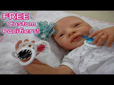 Free Custom Pacifiers for Silicone Baby & Reborn Baby Dolls!