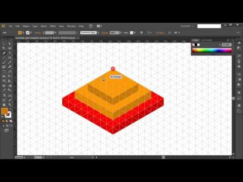 How to draw ISOMETRIC PYRAMID in Adobe Illustrator - Tutorial #5