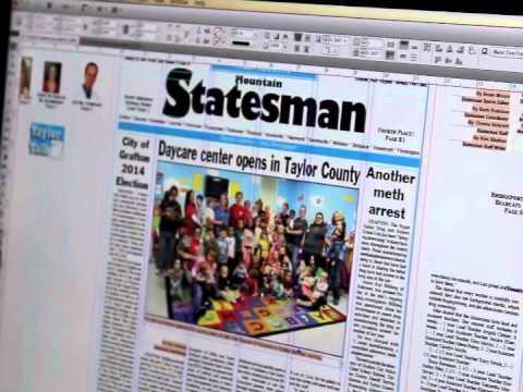 How we make the newspaper... Step 1