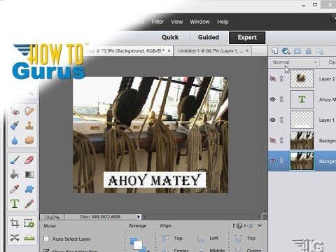 How to Add and Edit Text in Adobe Photoshop Elements 15 14 13 12 11 Tutorial