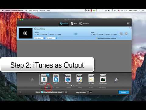 Convert and Import MP4 to iTunes on Mac- iMedia Converter Deluxe