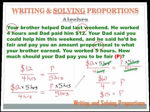 Number Sense    Writing and Solving Proportions - 7th Grade Math