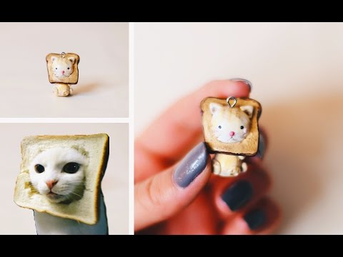 CAT TOAST FACE 😻🍞 POLYMER CLAY CHARM TUTORIAL + GIVEAWAY! ✨