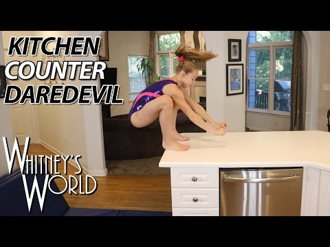 Kitchen Counter Daredevil | Whitney Bjerken Kitchen Gymnastics