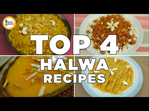 Top 4 Halwa Recipes. Gajar Ka Halwa, Andey Ka Halwa, Suji Ka Halwa & Chanay Ki Daal  By Food Fusion