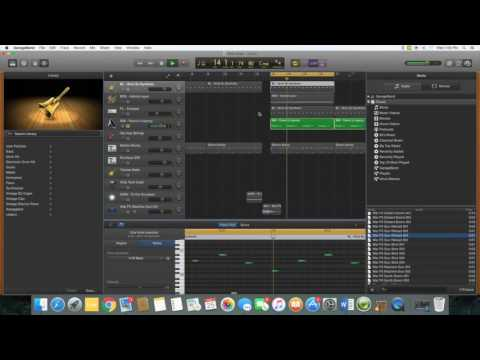 How to make a trap beat in Garageband PT 2 Drums and Bass